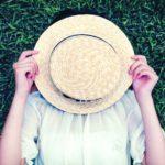 日焼け防止麦わら帽子